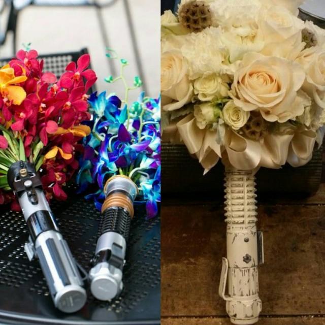 Star Wars Disney Wedding Lightsaber Boquet Flower Holder