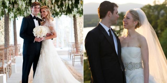 Heres How Ivanka Trump And Chelsea Clintons Weddings