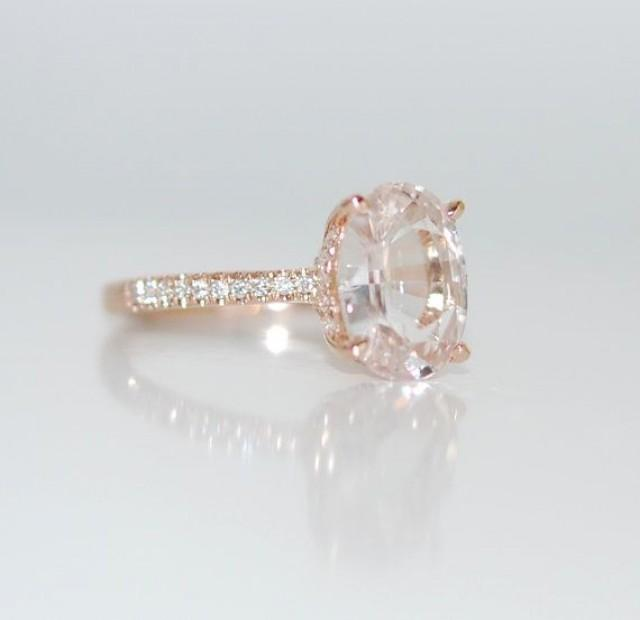 Blake Lively Ring White Sapphire Engagement Ring Oval Cut