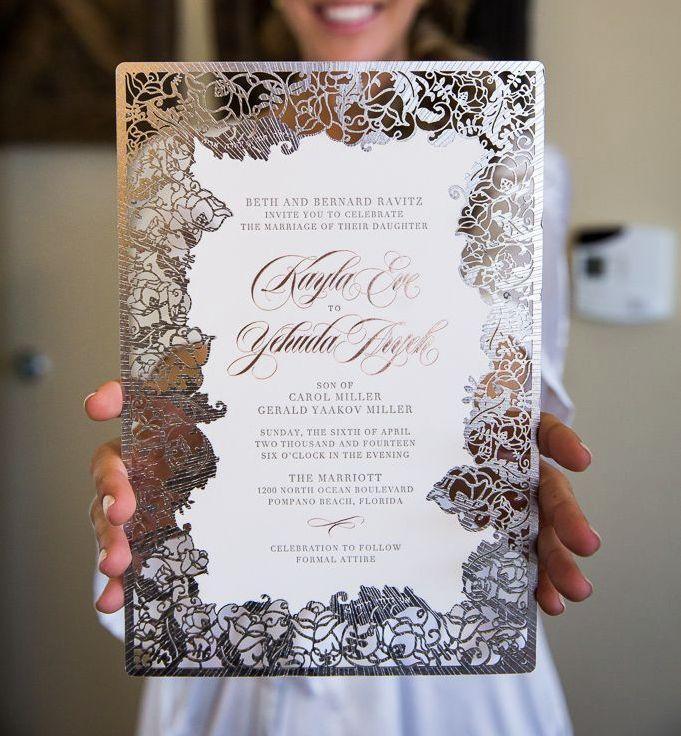 Unique Laser Cut Wedding Invitations