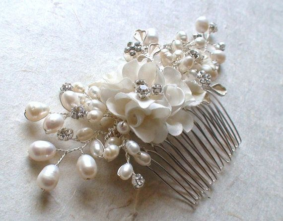 bridal headpiece wedding hair accessories flower hair comb pearl hair comb hair accessories flower hair piece
