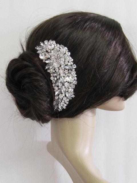 wedding pearl hari comb bridal hair comb large crystal hair comb bridal hair accessories wedding hair comb pearl hair comb bridal