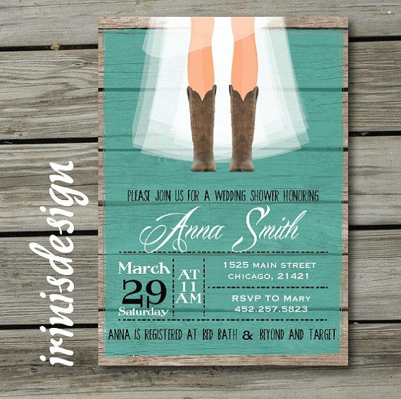 Rustic Bridal Shower Invitations Nickhaskins Com