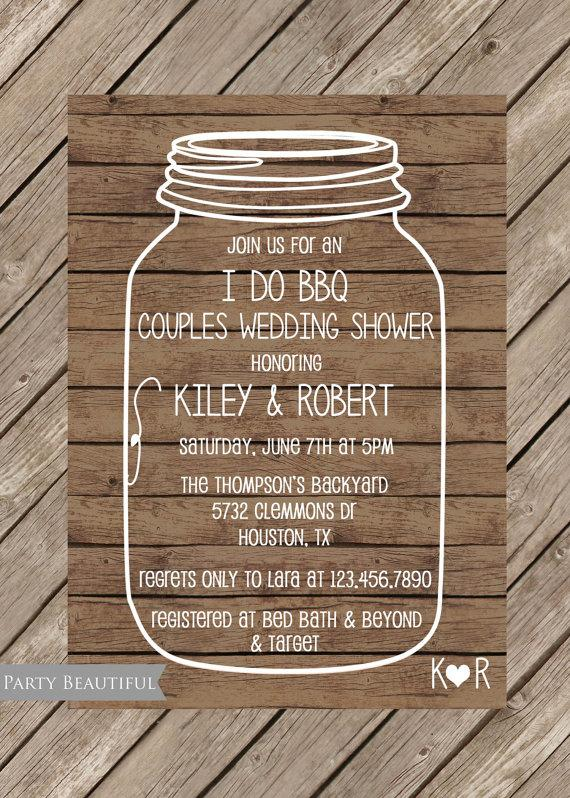 Coed Wedding Shower Invitations