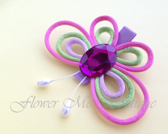 butterfly clips hair bows hair clips flower girl hair accessories baby toddler butterfly wedding spring easter barrettes hairbows