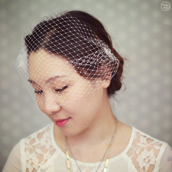 Small Birdcage Veil For Wedding Wedding Birdcage Veil