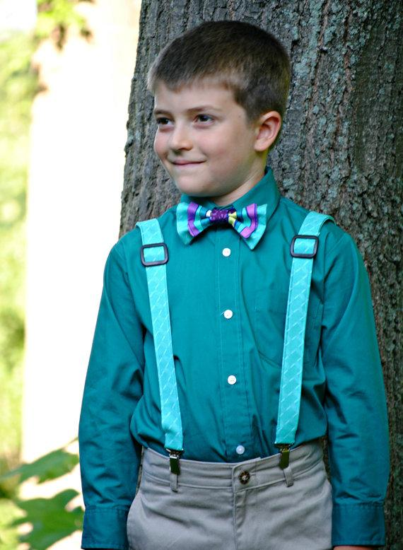 faf0e9edaea1 Boy S Bow Tie And Suspenders Set Bowtie Suspenders Ring Bearer