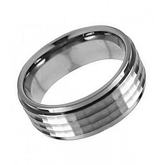 Titanium Engraved Wedding Bands Trendy Hand Engraved