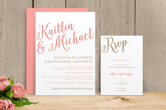 You Can Change The Color Diy Wedding Invitation Template
