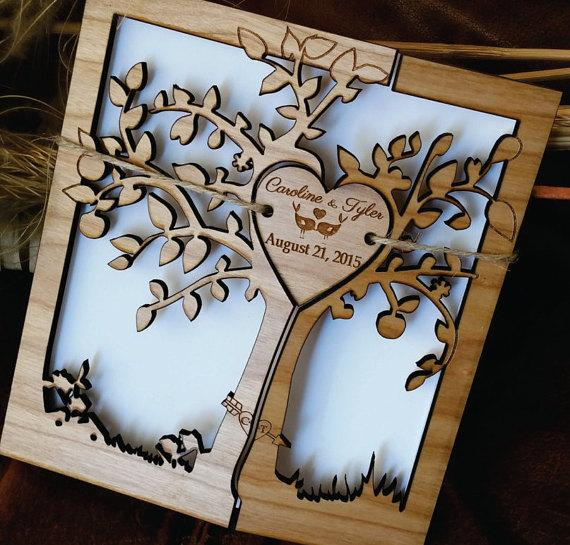 This Allows You To Create Custom Wood Wedding Invitations Reply Cardore