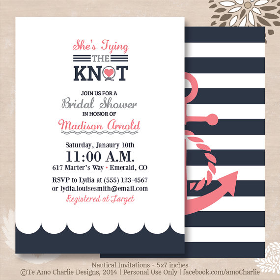 Tying The Knot Wedding Invitation Code View Larger Image