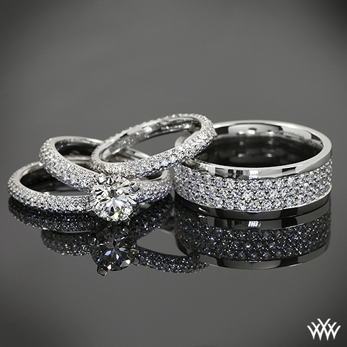 Pave Engagement Rings And Wedding Bands Paved In