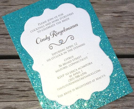 Glitter Bridal Shower Invitations