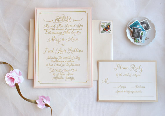 Romantic Vintage Wedding Invitations Combined With Cute Brown Erfly Decoration And Beautiful Purple Flowers Painting