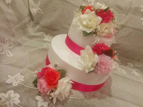 Silk Flower Cake Topper, Wedding Cake Decorations, Floral