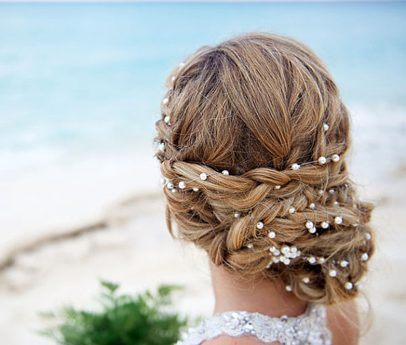 wedding pearl head chain bridal headband pearl headband wedding hair accessories bridal hair accessories