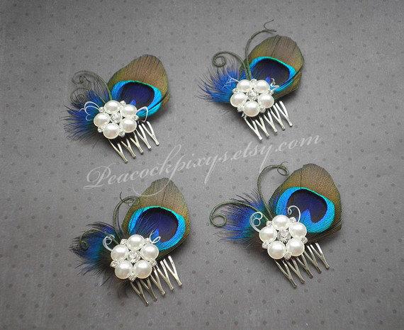 peacock wedding hair accessories peacock feather fascinator feather hair clip peacock feather comb bridesmaids pretty peacock