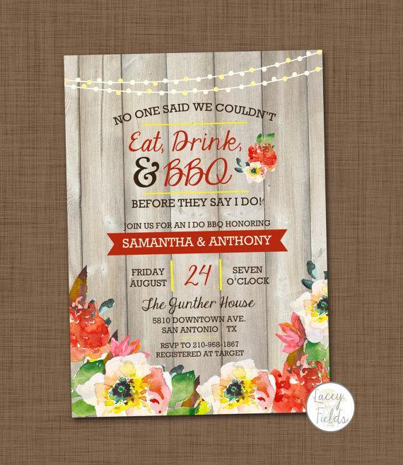 I Do Bbq Invitation Printable Wedding Shower S