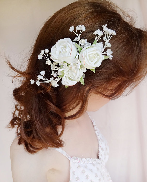 bridal hair accessory pearl wedding hairpiece bridal headpiece white flower hair clip evelyn vintage hair accessories couture