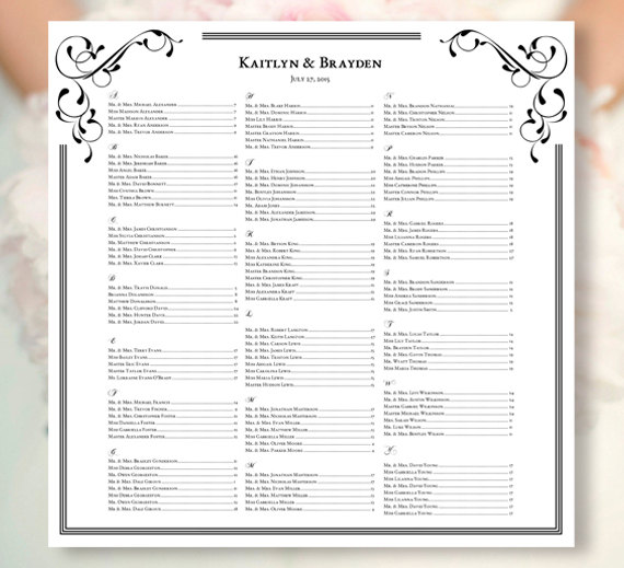 Wedding reception seating chart poster fashion dresses wedding reception seating chart poster pronofoot35fo Gallery