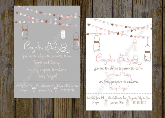 Mason Jar Baby Shower Invite S Bbq