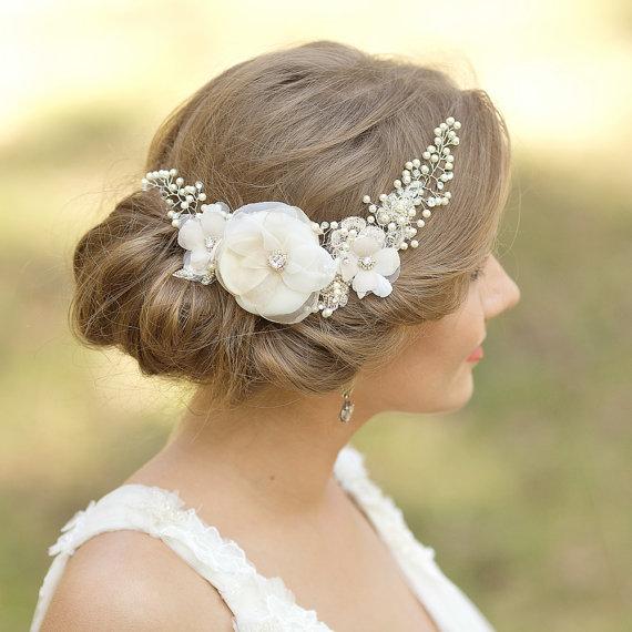 wedding headpiece bridal hair accessories bridal hair vine floral hair pieces wedding hair comb floral hair comb lace bridal hair comb vine