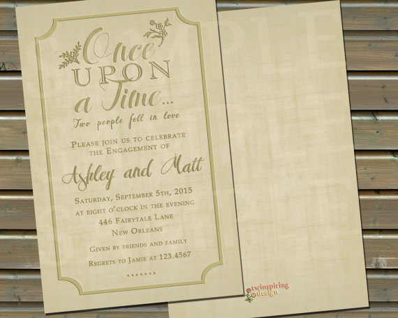 Once Upon A Time Engagement Party Or Wedding Event