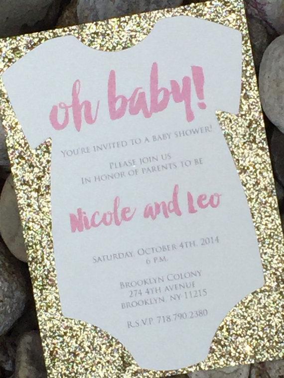 Onesie Baby Shower Invitations