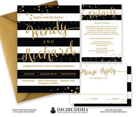 Cheap Wedding Invitations Glitter