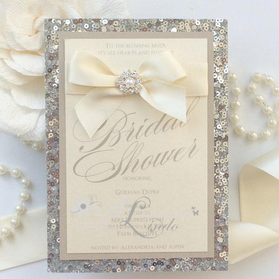 Wedding Invitations With Bling, Wedding Invitations