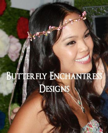 rustic bridal headpiece bridesmaid flower girl wedding hair accessories meadow berry vine