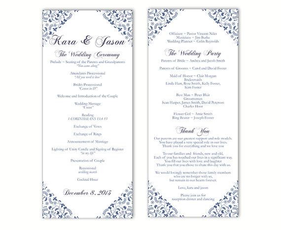 Word Program Template. free wedding program templates word best ...