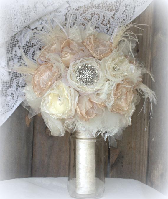 Brooch BouquetBridal BouquetFabric Bouquet Vintage