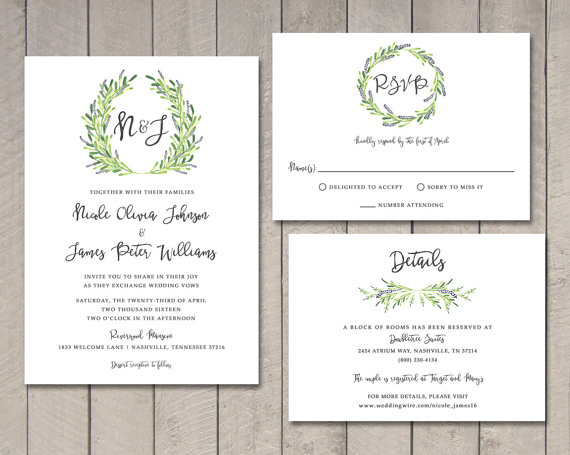 Wedding Invitations With Rsvp Cards Included As Awesome Ideas For Unique Invitation Design 1011201620