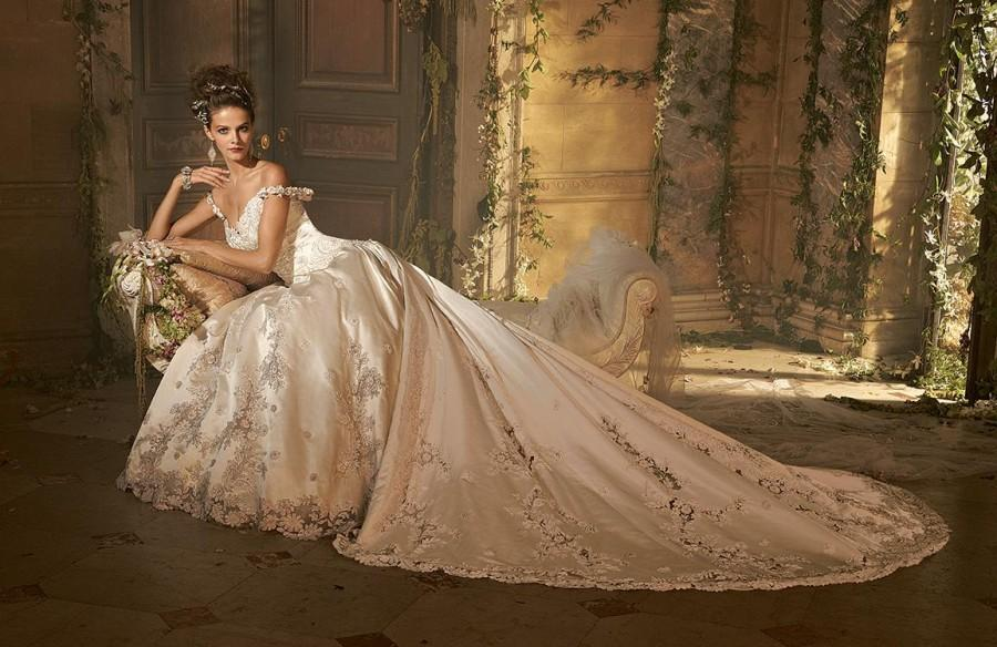 Ball Gown Wedding Dresses Cathedral Train Online With $205
