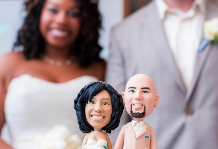 Beach Custom Wedding Cake Topper Bride And Groom Cake Topper