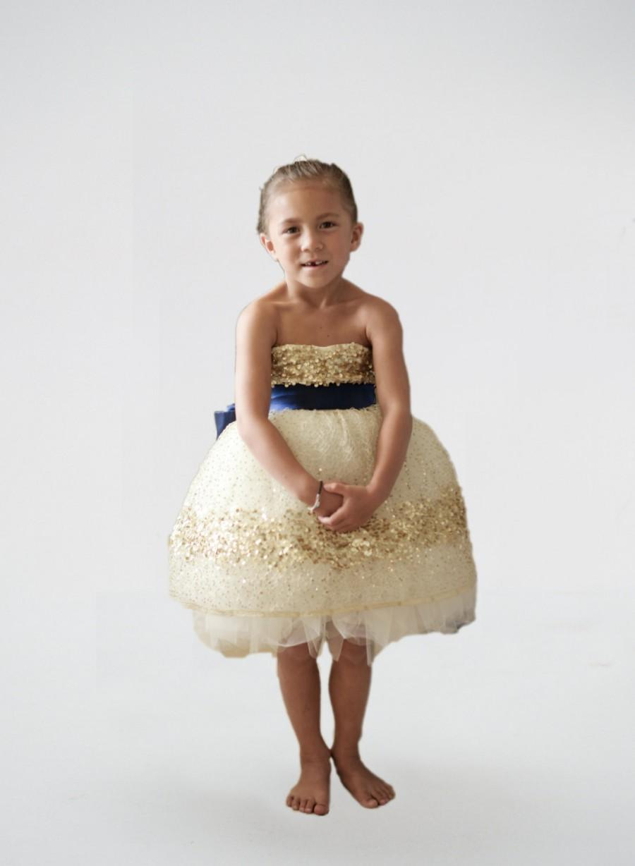 5219c835b3c Gold Constellation Flower Girl Dress 2400503 Weddbook