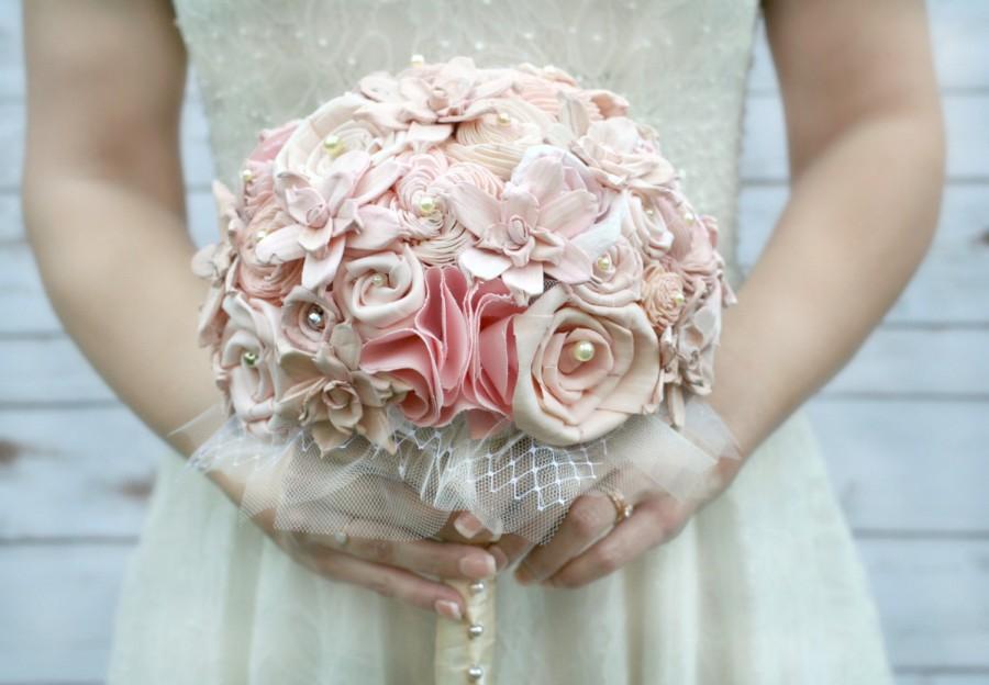 Original Blush Ombre Handmade Heirloom Bride's Wedding