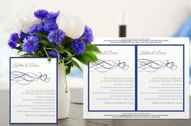 Printable Wedding Invitation Template Instantly