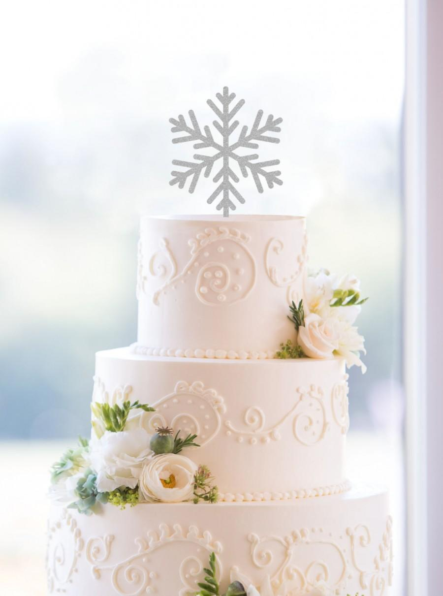 Snowflake Cake Toppers  Holiday Wedding Cake Toppers  Elegant     Snowflake Cake Toppers  Holiday Wedding Cake Toppers  Elegant Christmas  Custom Cake Topper   S126