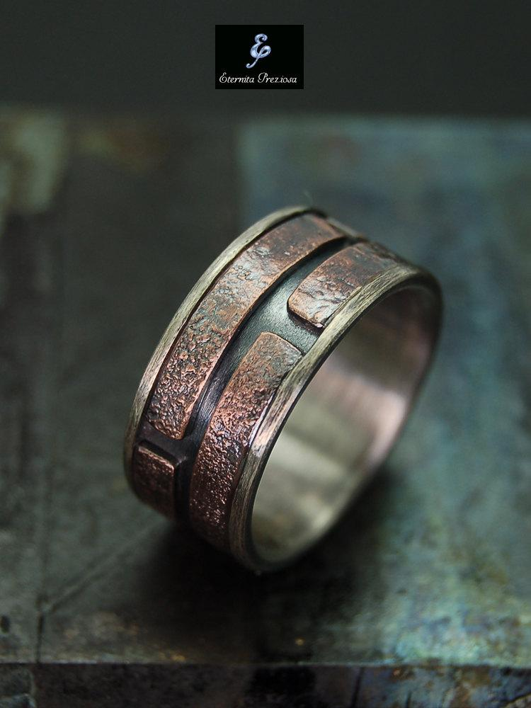 Unique Mens Ring Mens Engagement Ring Mens Wedding