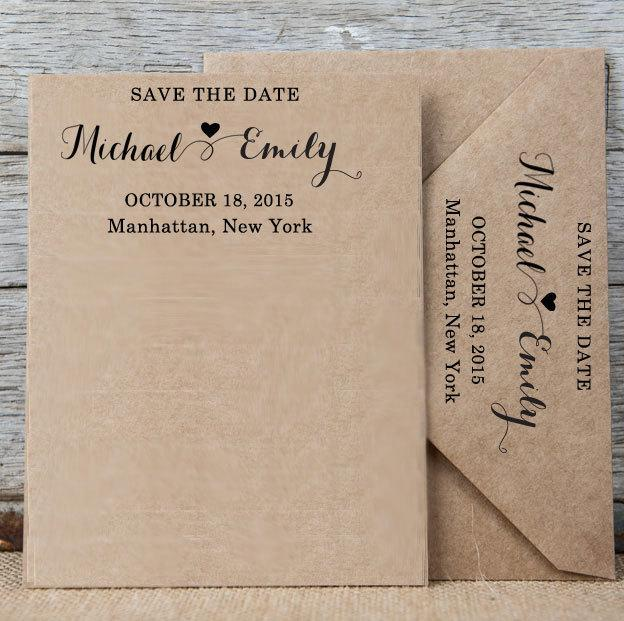 Custom Save The Date Stamp Personalized Rubber Self