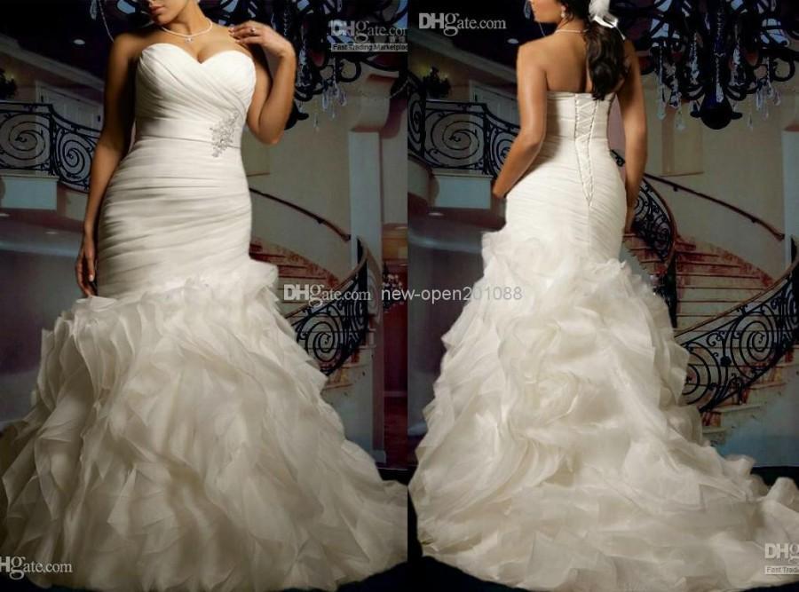 Mermaid Bridal Gowns 2014 New Custom Plus Size Sexy