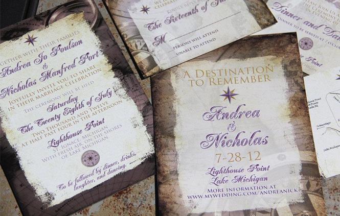 Vintage Wedding Invites
