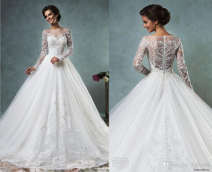 Bridal Gowns Online Best Selling 2016 New Amelia Sposa