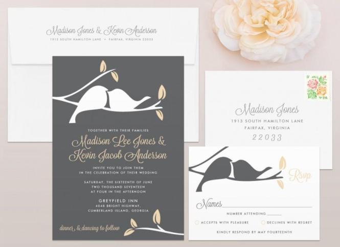 Wedding Invitations Love Bird Ideas