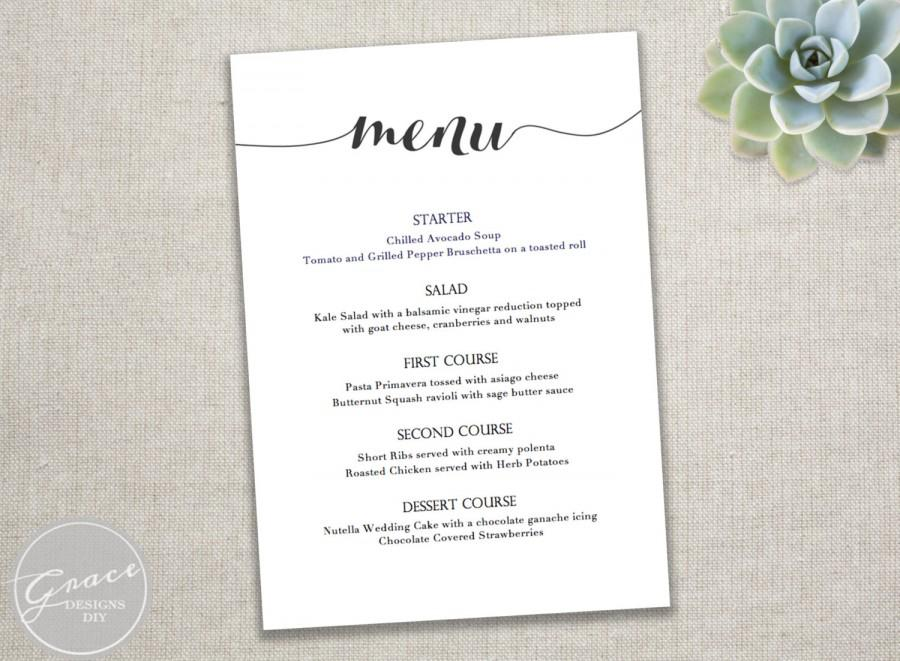 free party menu template Template – Dinner Party Menu Templates Free Download