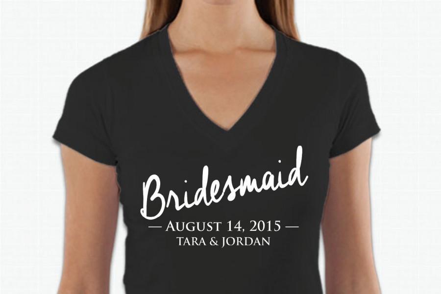 Bride Tshirt, Bridal Party T Shirt, Bridesmaid Tee