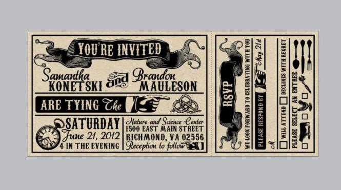 Rustic Wedding Invitations Vintage Antique Edwardian