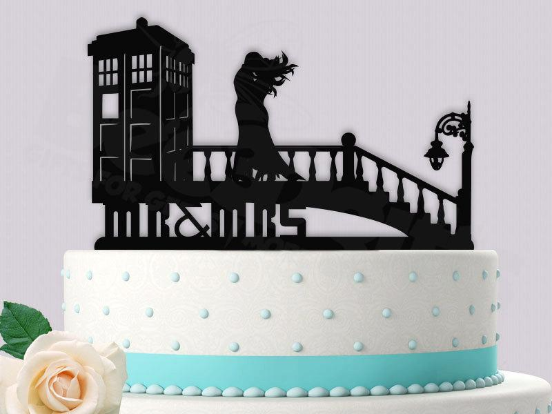 Dr Who Tardis In Time Wedding Cake Topper  2426796   Weddbook Dr Who Tardis in Time Wedding Cake Topper